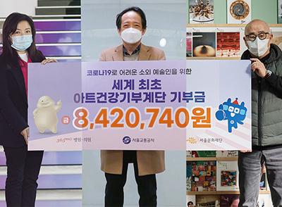 아트기부건강계단을 통한 기부금, 서울문화재단에 전달